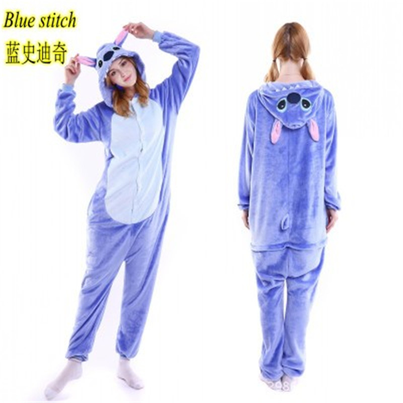 New Plush Robe Adult Animal Bunny Panda Stitch Pajamas Long Sleeve Sleepwear Bath Robes Night Gowns For Women Hooded Bathrobe