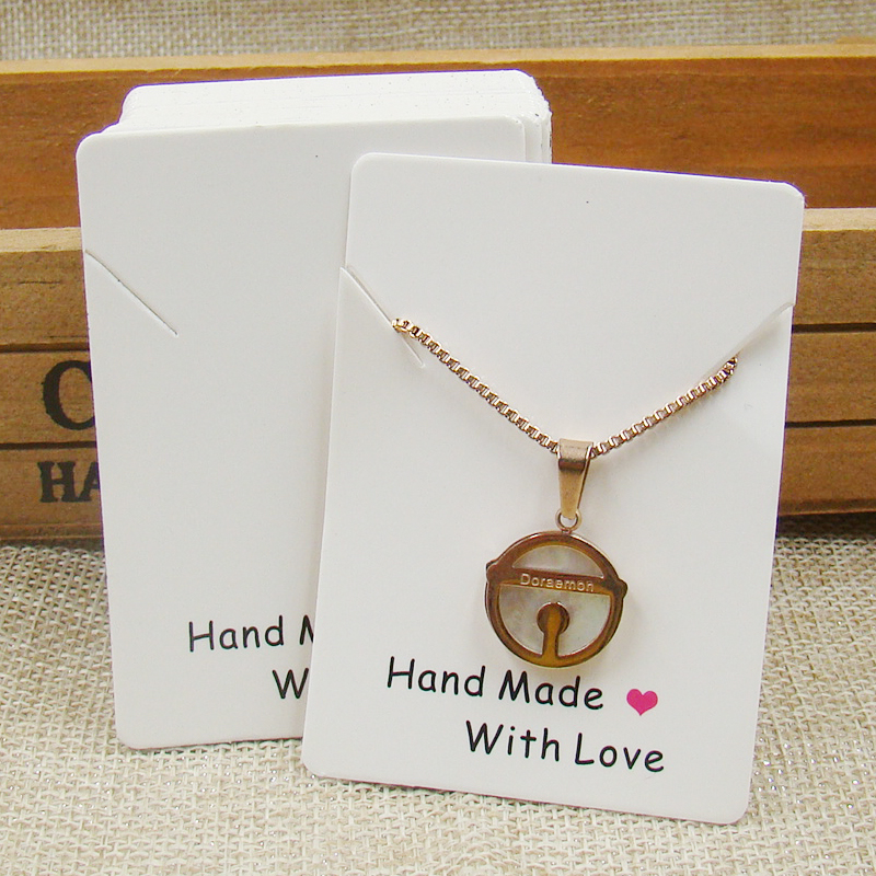 500card Per Lot Handmade With Love Printed Jewelry Kraft Paper Earring Display Cards Ng Card9 5cm Custom