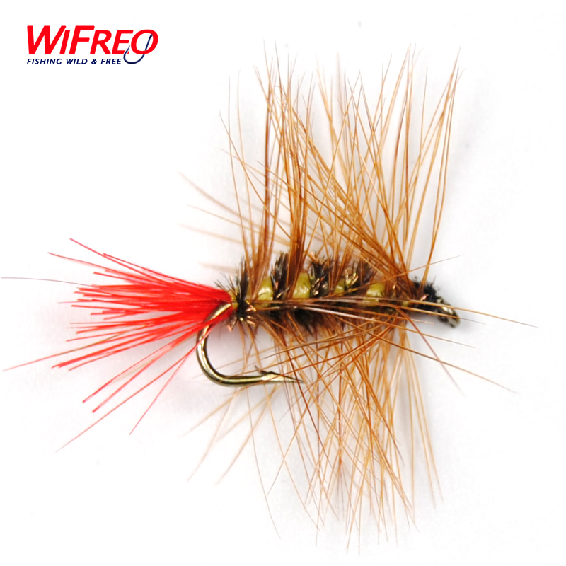 10PCS Wifreo 12# Brown Nymph Bugger Wooly Worm Fly Trout Fly Fishing Baits Free Box Package