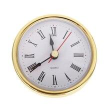 Mayitr Round Wall Clock Head 2-1/2 (65mm) DIY Quartz Movement Insert Roman Numeral Tools Accessories
