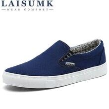 2019 LAISUMK Spring Autumn Breathable Canvas Shoes Men Lovers Fashion Light shoes for Brand Flat size 36-45