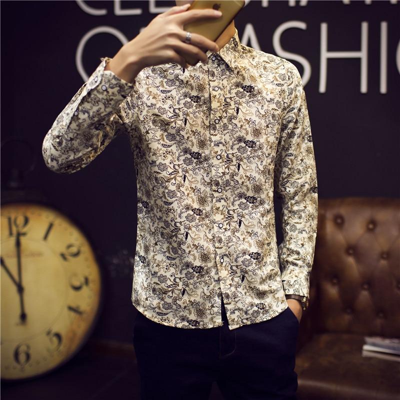 2017 męskie złote koszule barokowy koszule męskie fantazyjne  eMeLQ