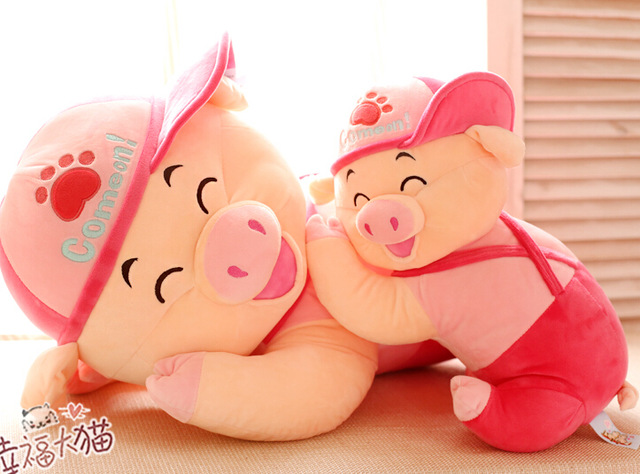 Candice guo plush toy stuffed doll cartoon laugh pink pig piggy hat pillow kid children creative birthday gift christmas present а м тойота с пробегом раф4