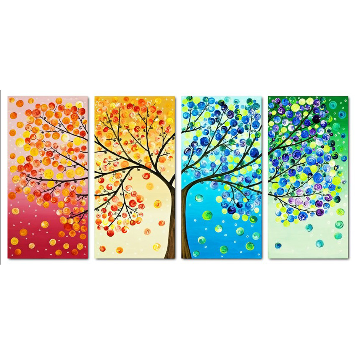 2017 Fashion Colorful Tree Embroidery DIY Counted Cross Stitch Kit Handmade Needlework Home Room Decoration Cloth Size 103*57cm