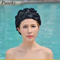 2018 Design 36 Lily Flowers Women   Swimming   Cap Coloful Sports Swim Pool Beautiful Hat Free Size Women Elastictry Cap
