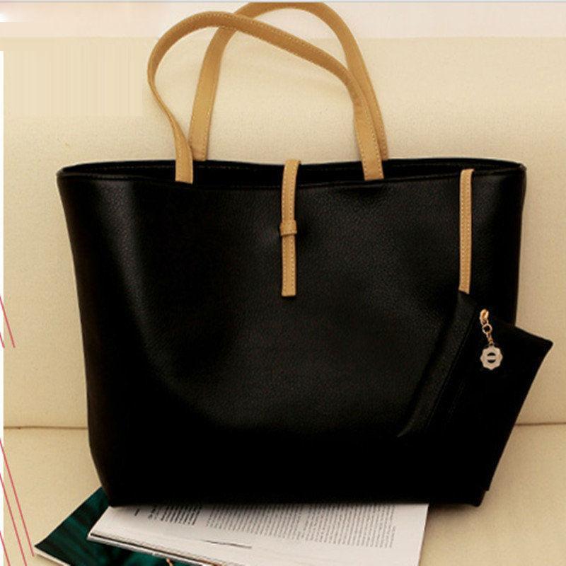 abc3e7d9e6 Women Handbag Designer Brand Fashion Women Handbag Female PU Leather Bags  Candy Color Trend Vintage Black Shoulder Bag handbags-in Shoulder Bags from  ...