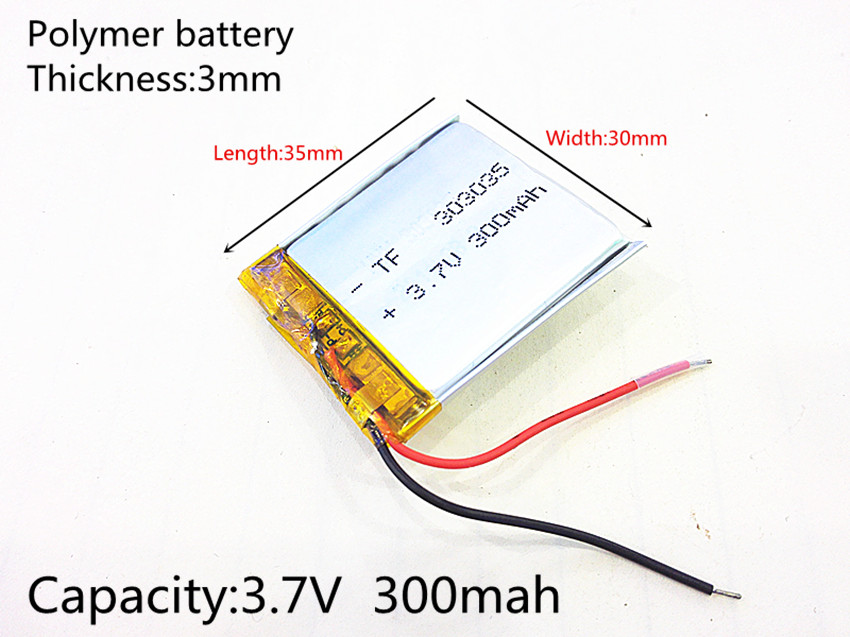 3.7V 300mAh 303035 Lithium Polymer Li-Po li ion Rechargeable Battery cells For Mp3 MP4 MP5 GPS PSP mobile bluetooth 454060 3 7v 1300mah 404060 lithium polymer li po li ion tablet battery cells for mp3 mp4 mp5 gps dvd dvr mobile bluetooth