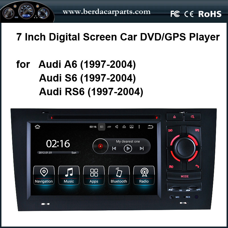 <font><b>Android</b></font> 8.0 Car DVD/GPS player for <font><b>Audi</b></font> <font><b>A6</b></font> (1997-<font><b>2004</b></font>) image