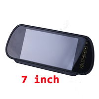 7 Inch TFT LCD Widescreen Touch Button Support DVD Car Rearview Mirror Monitor 7 Parking Reverse