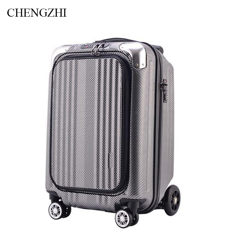 CHENGZHI Teenager Scooter Suitcase Carry On Skateboard Traveling Luggage Bags On Wheels