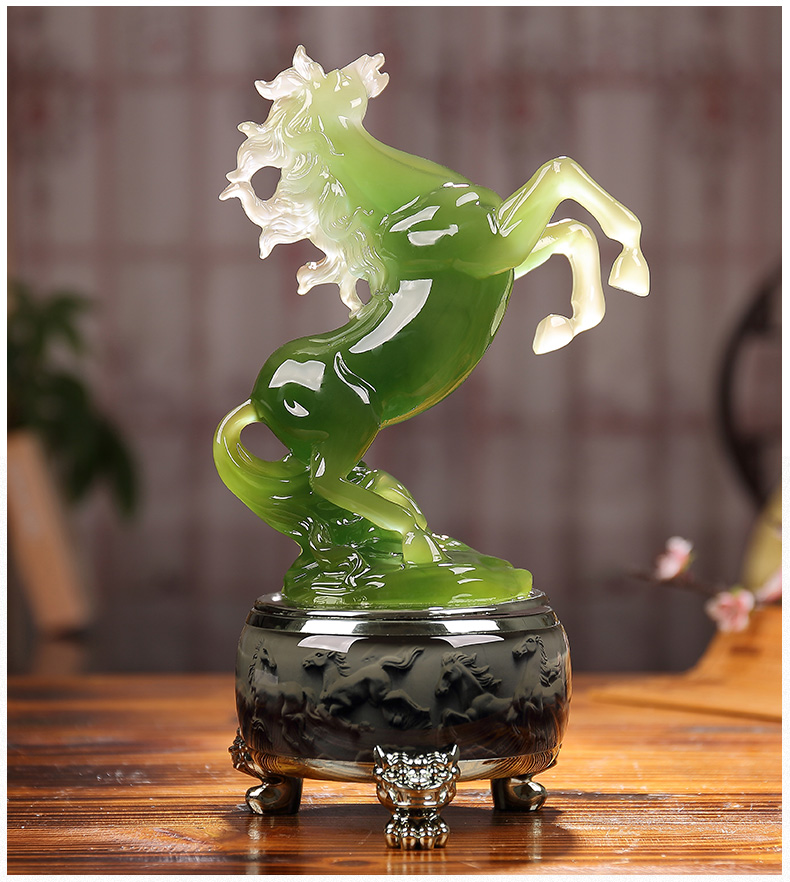 30cm LARGE # office home Business TOP efficacious FENG SHUI Talisman Protection Money Drawing 3D crystal HORSE Sculpture statue30cm LARGE # office home Business TOP efficacious FENG SHUI Talisman Protection Money Drawing 3D crystal HORSE Sculpture statue