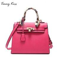Tonny Kizz классическая ручная сумка женская с короткими ремнями,сумка женская на плечо c шёлковвым платком,большая сумка через плечо женская вы...