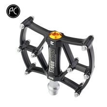 Bicycle Pedal 3 Bearing Large Aluminum Alloy MTB Pedals with Foot Nails