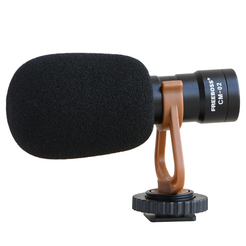 Freeboss CM-02 eletret конденсатор Кардиоидная камера смартфон микрофон видео микрофон