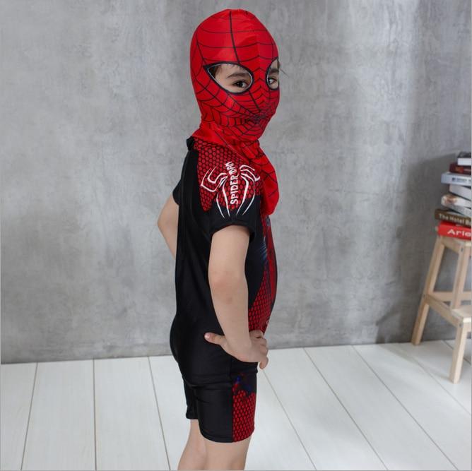 2 Stücke Schwimmen Kleidung Für Jungen Spiderman Badehose Mit Kappe - Sportbekleidung und Accessoires - Foto 3
