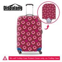 Dispalang 3d in ấn chất lượng hàng đầu spandex dày hành lý du lịch bảo vệ bìa đàn hồi bụi mưa hành lý vali bao gồm cho grils