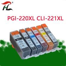 עבור PGI220 CLI221 תואם PGI220 דיו מחסנית עבור Canon MP540 MP545 MP558 MP560 MP568 MP620 MP638 MX870 IP4600 מדפסת