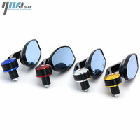 Handel Bar Ends Motorcycle Mirror Handlebar Ends Rear Mirrors Side Mirrors For Kawasaki Z1000 Z750 Z900