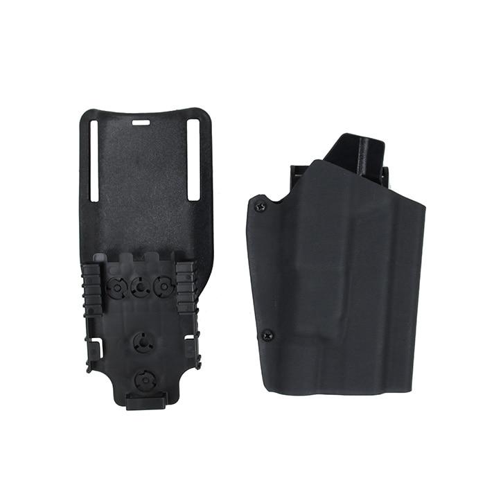 Tactical Kydex X300 Light Bearing Holster Paddle & Belt Loop For GBB Glock BK CB OD Coyote Brown(STG051112)