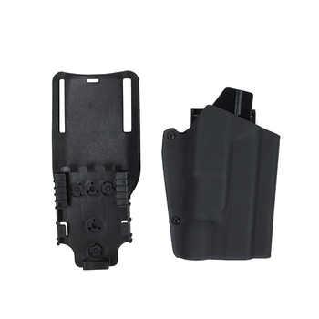 Tactical Kydex X300 Light Bearing Holster Paddle & Belt Loop For GBB Glock Coyote Brown Multicam Black(STG051112)