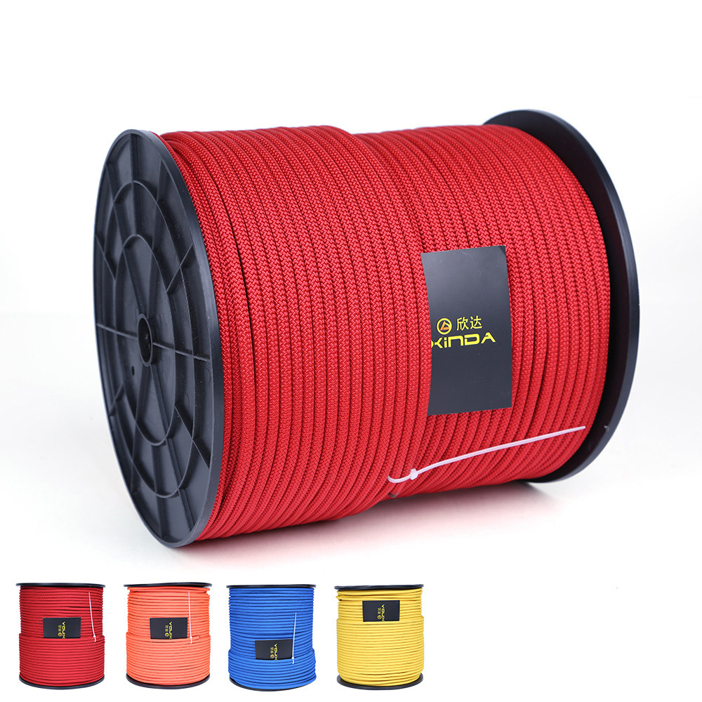 10M Professional Rock Climbing Static Ropes 6mm Diameter 7KN High Strength Equipment Cord Safety Survival Ropes Abseiling