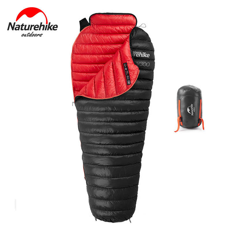 NEW Naturehike CW300 Ultralight Outdoor White Goose Down Mummy Sleeping Bag NH18S300-D 630g cw300 ultralight warm sleeping bag white goose down sleeping bag adults backpacking camping mummy sleep bags nh18s300 d