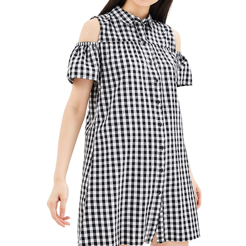 Dresses MODIS M181W00468 women dress cotton  clothes apparel casual for female TmallFS dresses befree 1731075511 woman dress cotton long sleeve women clothes apparel casual spring for female tmallfs