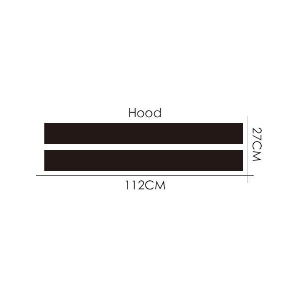 Автомобильный Стайлинг двойной ралли гоночный капот загрузки задняя крыша полосы Наклейка виниловая для Mini Cooper R56 R50 R53 F55 F56 F60 R60 R55 - Название цвета: Hood Dual Stripes