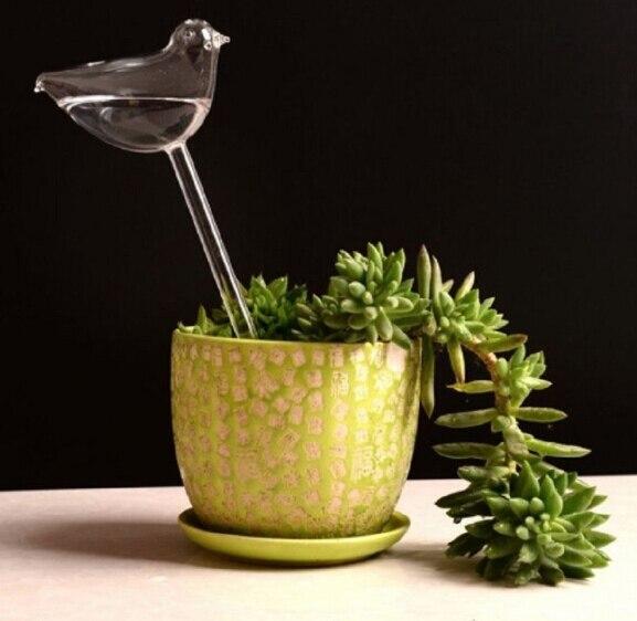 Стеклянные растения, цветы, кормушка для воды, самополивающаяся птица, дизайн, растение, водонагреватель, 6 видов - Цвет: as picture shown5
