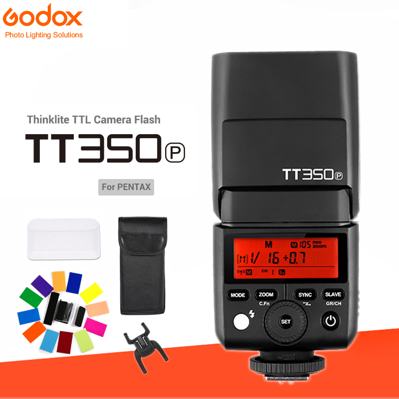 Godox Mini Speedlite TT350 TT350P Camera 2.4GHz Wireless Flash TTL HSS GN36 +Wireless Flash XPro P Trigger for Pentax Camera-in Flashes from Consumer Electronics    1