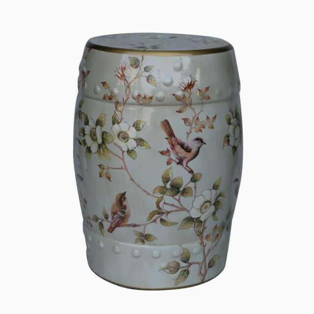 Art China Jindezhen Dressing Table Ceramic Garden Stool Chinese Ceramic Drum  Stool Bathroom Porcelain Garden Stool