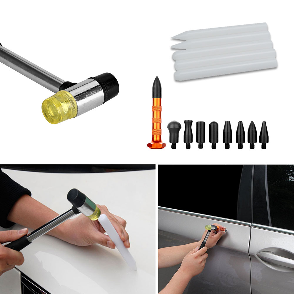 Инструменты для проверки вмятин ремонтный насос Клин насадки на молоток кран вниз ручка вмятин царапин удаление Инструменты крюковые инструменты Толкатель ручной набор - 5