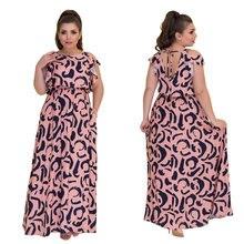 Longo Maxi Vestido de Verão Fora Do Ombro Vestido Floral Impresso Vestido Casual Praia 5XL 6XL Plus Size Mulheres Vestido Vestidos Verano 2018