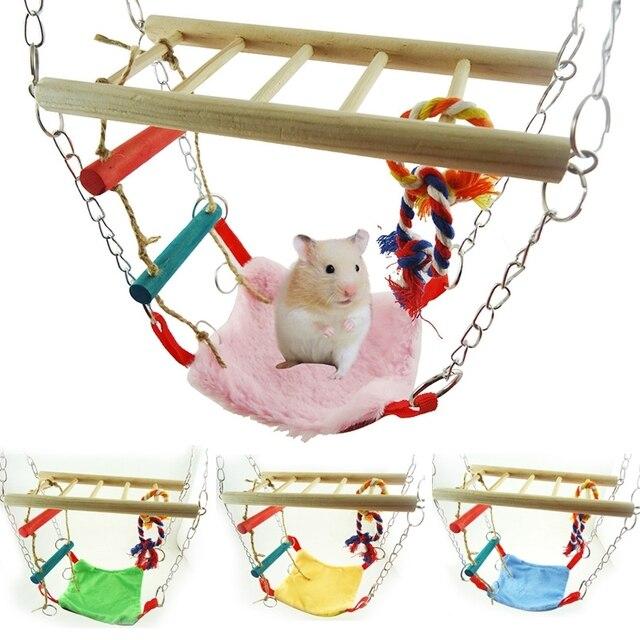 Small Animal Suspension Bridge Ladder Swing Hanging Climbing Frame ...
