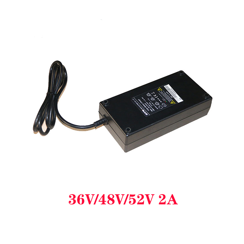 Mid Drive Motor Accessories Ebike Battery Charger 36V2A 48V2A 52V2A Electric Bicycle Charger E Bike Lithium