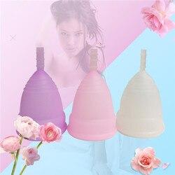 Heißer Verkauf menstruations cup für frauen feminine hygiene produkt medical grade silikon vagina verwenden kleine oder große größe anner tasse