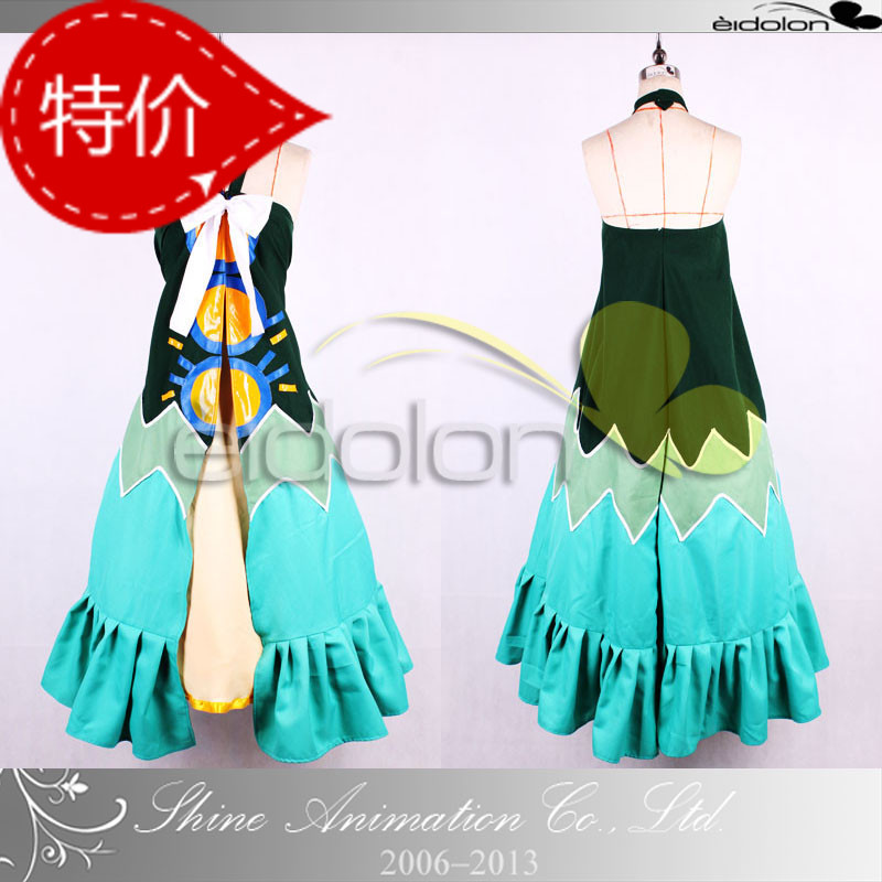 Free shipping Fairy Tail Cosplay/ Fairy Tail's First Guild Master Mavis Vermilion Lucy Cosplay dress Costume