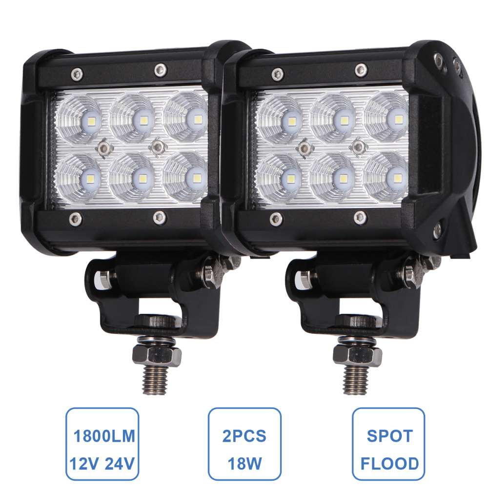 18W LED Work Light Bar 4\'\' Motorcycle Tractor Boat Off Road 4WD 4x4 ...