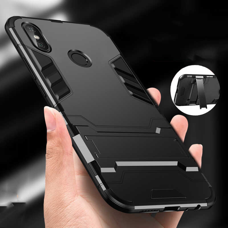 brand new 6d36d b9f68 Case For Xiaomi Redmi Note 5 Pro case Design Armor Shockproof Hybrid Hard  Back Cover for Redmi Note 5 Bumper Case