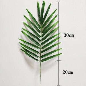 Image 4 - 20 stücke Kunststoff Künstliche Palme Blätter Zweig Grün Pflanzen Gefälschte Tropischen Blatt Startseite Hochzeit Dekoration Blume Anordnung