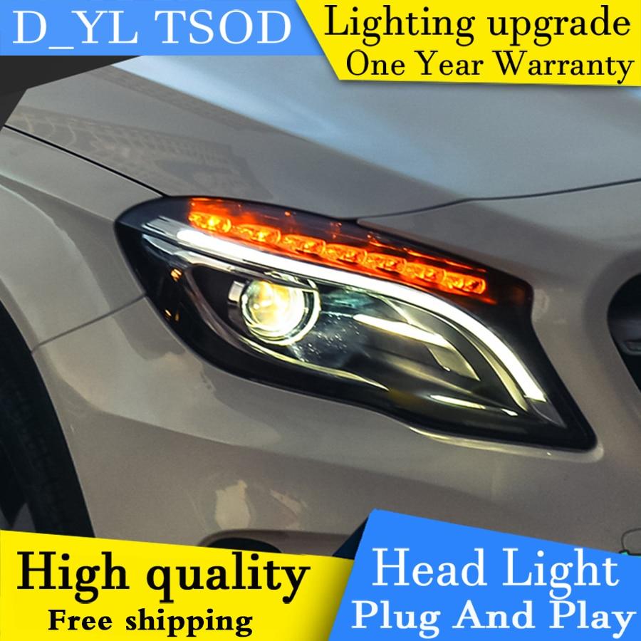 Car Styling Headlights For Benz GLA 2015 2016 LED Headlight for GLA Head Lamp LED Daytime