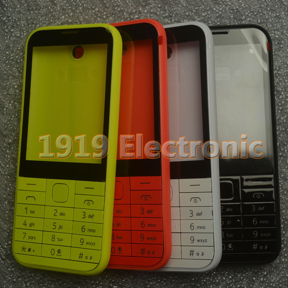 Case Mobile-Phone-Housing-Cover Russian-Keypad Nokia Asha New Or English 225/n225 Full-Complete