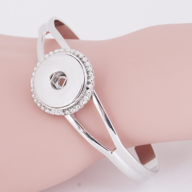 Prix pour 2016 charme bracelet 18mm snap bouton bijoux sterling bijoux B193 Femmes argent bracelet avec charmes de bracelets pour hommes