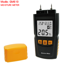 High Precision GM610 Wood Moisture Meter 2Pins Humidity Tester Timber Damp Detector Hygrometer Range 0~70% Digital LCD Display kt 505 digital wood moisture meter redwood timber moisture meter humity meter range 0 100%