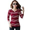 camisetas y tops striped t shirt women t shirt 2016 tee shirt femme casual v neck womens tshirt blusa t-shirt  women clothing