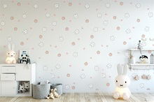 Laeacco Baby Room Interior Rabbit Pattern Wall Desk Photography Background Customized Photographic Backdrops For Photo Studio 100% hand painted pro dyed muslin backdrops for photography studio customized photographic background wedding backdrops 10x10ft