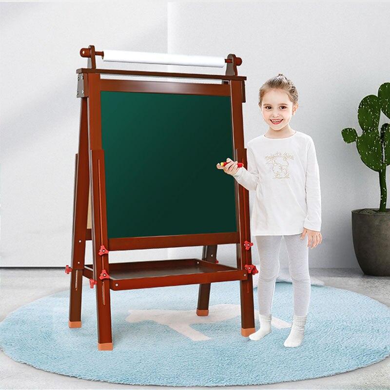Enfants planche à dessin chevalet magnétique double face planche sans poussière ménage petit tableau noir support enfants graffiti conseil - 2