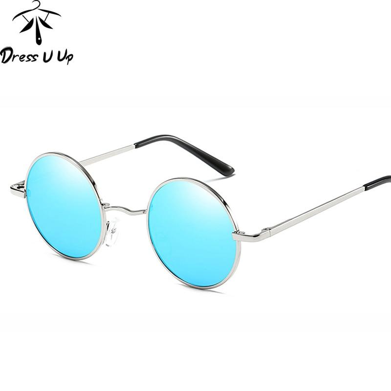 DRESSUUP Klasické polarizované kulaté sluneční brýle Pánské sluneční brýle Pánské barvy Sluneční brýle Oculos De Sol Masculino Lunettes Gafas