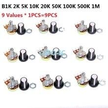 B1K 2K 5K 10K 20K 50K 100K 500K 1M Assortment WTH148 Potentiometer with Cap