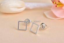 SMJEL 30 PCS S064 hurtownia moda biżuteria kwadratowe kolczyki dla kobiet proste Geomoetric kolczyki do uszu mężczyźni kolczyki prezenty
